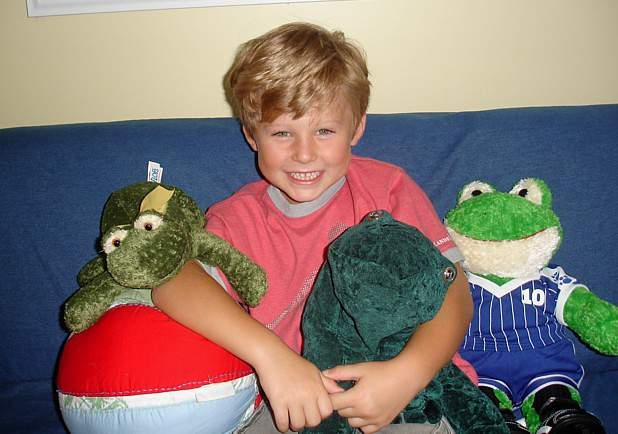 My Son and His Frogs - Age 4