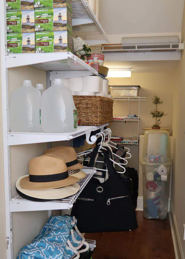Closet Organization Under the Stairs