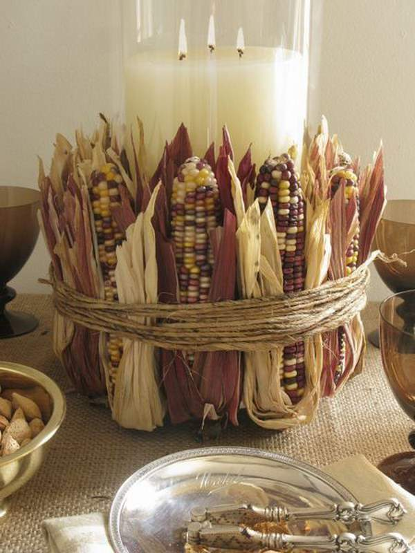 Corn Husk Center Piece