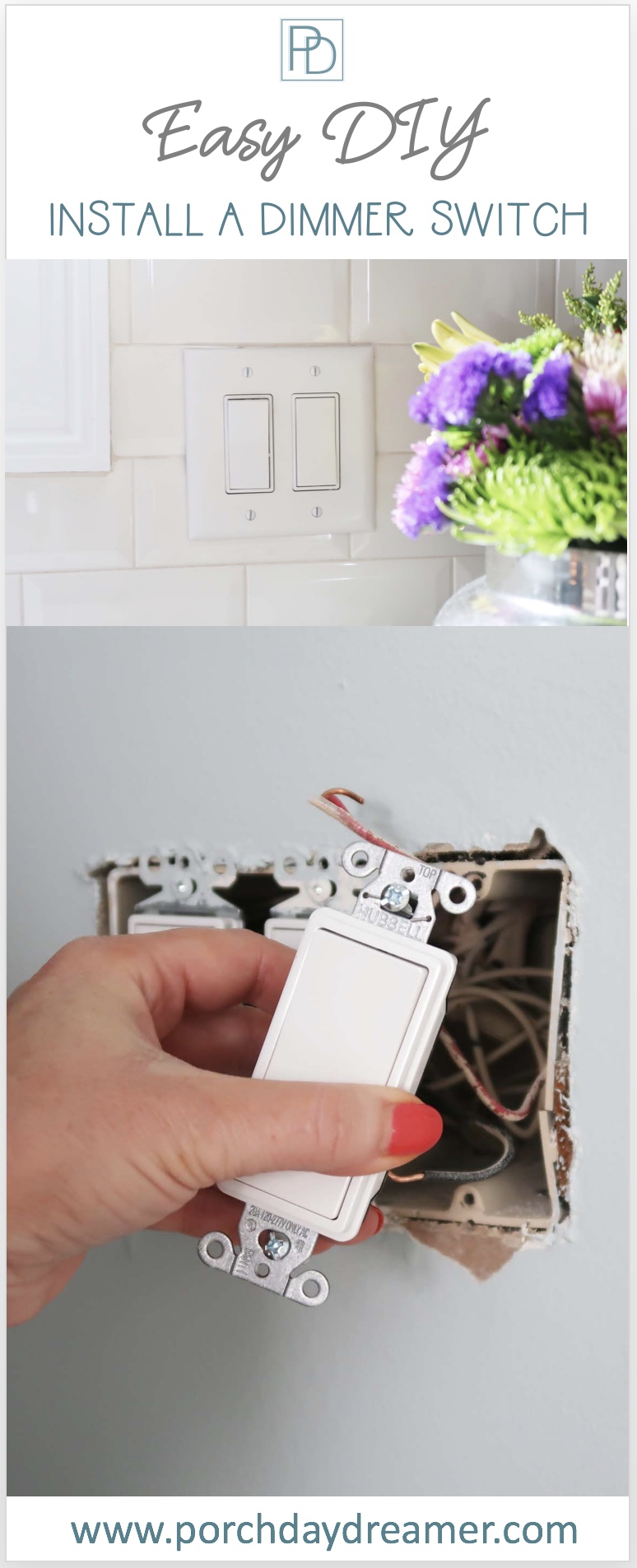 How-to Install a Dimmer or Light Switch - Porch Daydreamer
