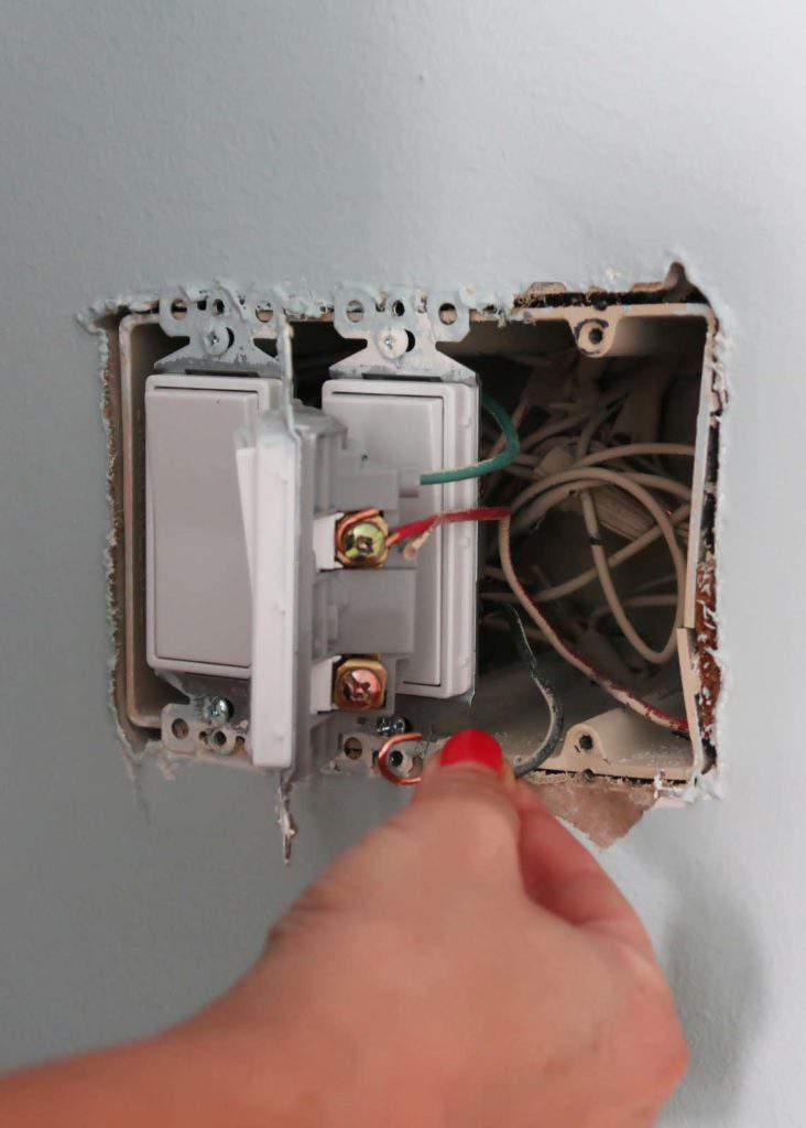 Remove Wires from Old Light Fixture Paddle Switch