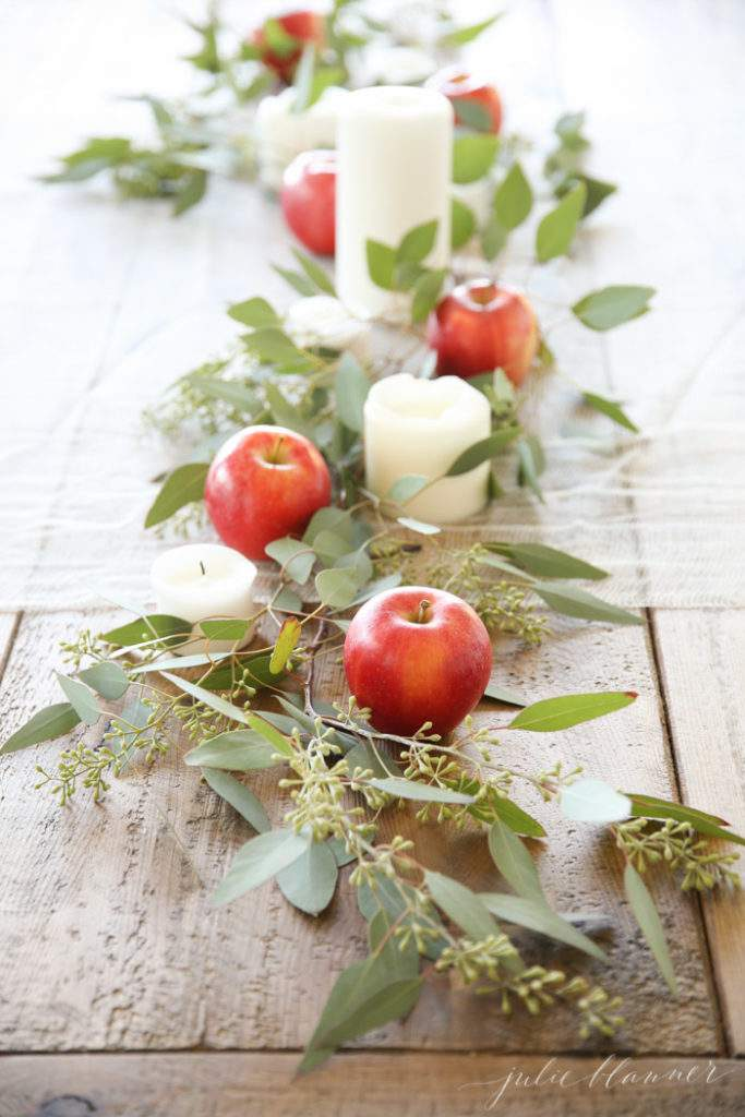 easy-centerpiece-for-beginners_apples-eucalyptus