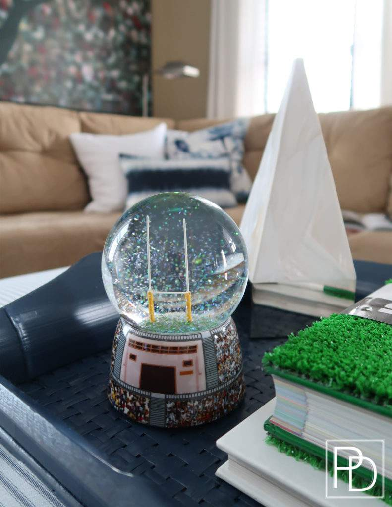 Football Snow Globe-Porch Daydreamer-Man cave