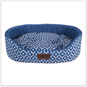 Navy and White Dog Bed