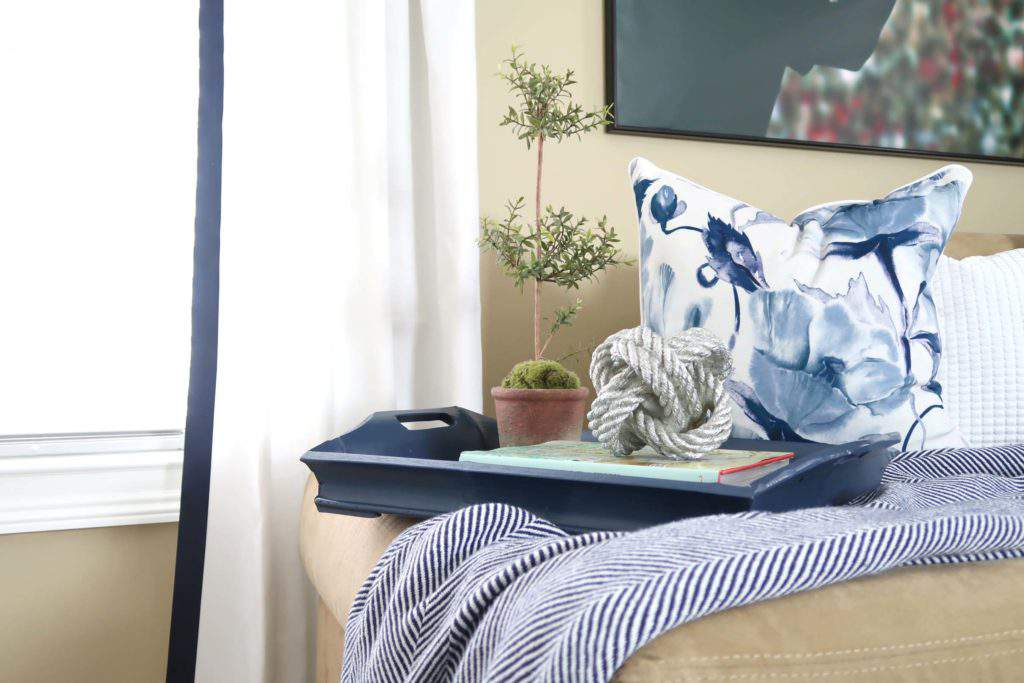 Navy and White Home Decor Details