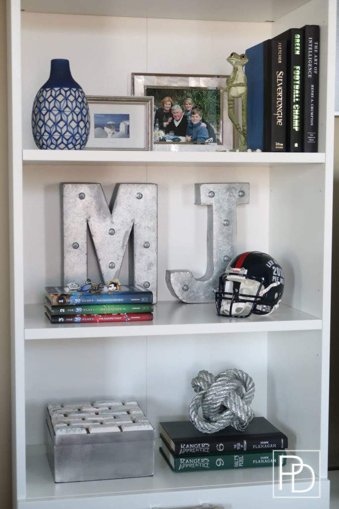 Personal Items in the Book Case-Man Cave-Porch Daydreamer
