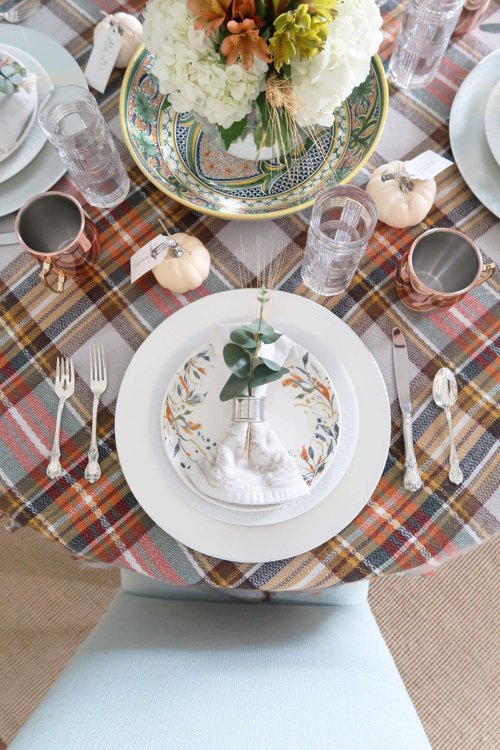 Thanksgiving-Table Setting-Last Minute-Porch Daydreamer