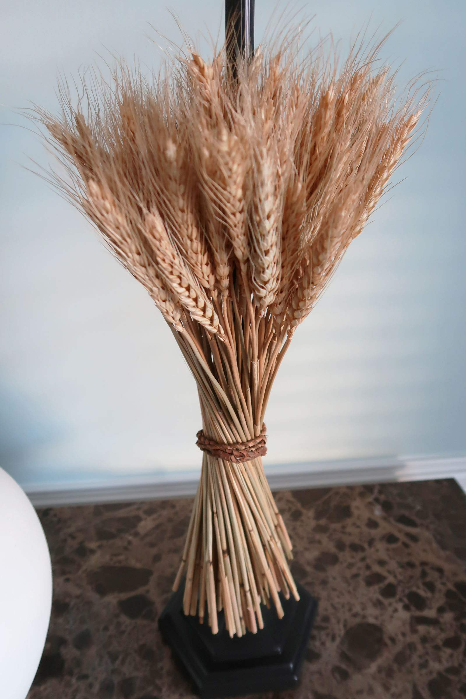 Wheat Bunch on Buffet Lamp