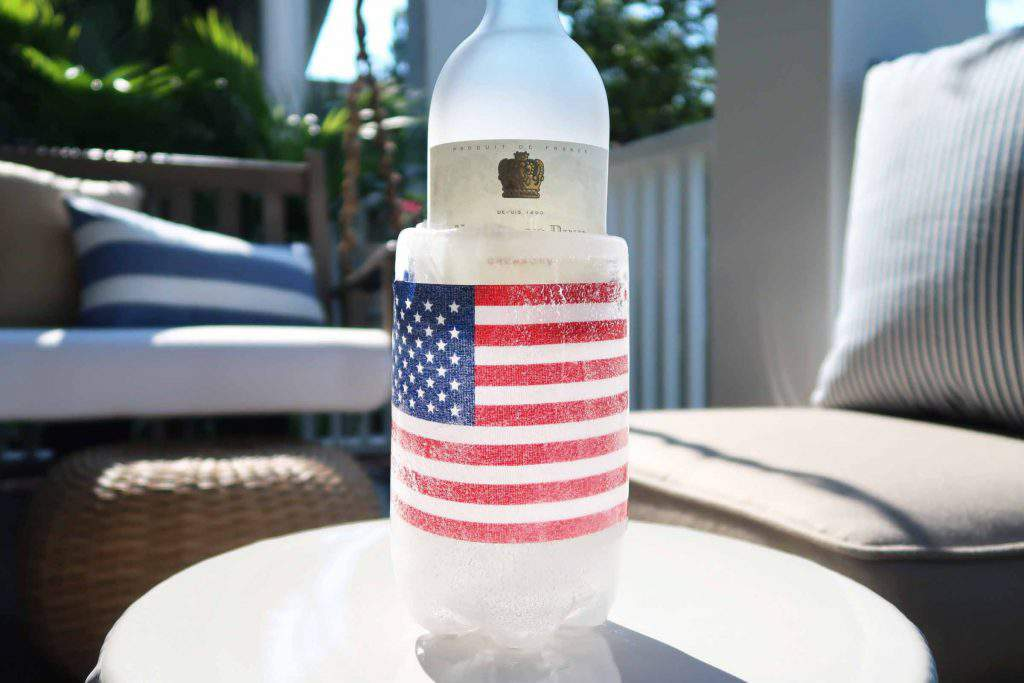 diy ice bucket_american flag_4th of july_red white and blue