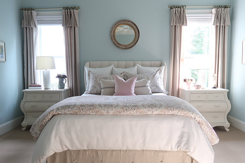 New Blush and Gray Master Bedroom for Fall | Porch Daydreamer