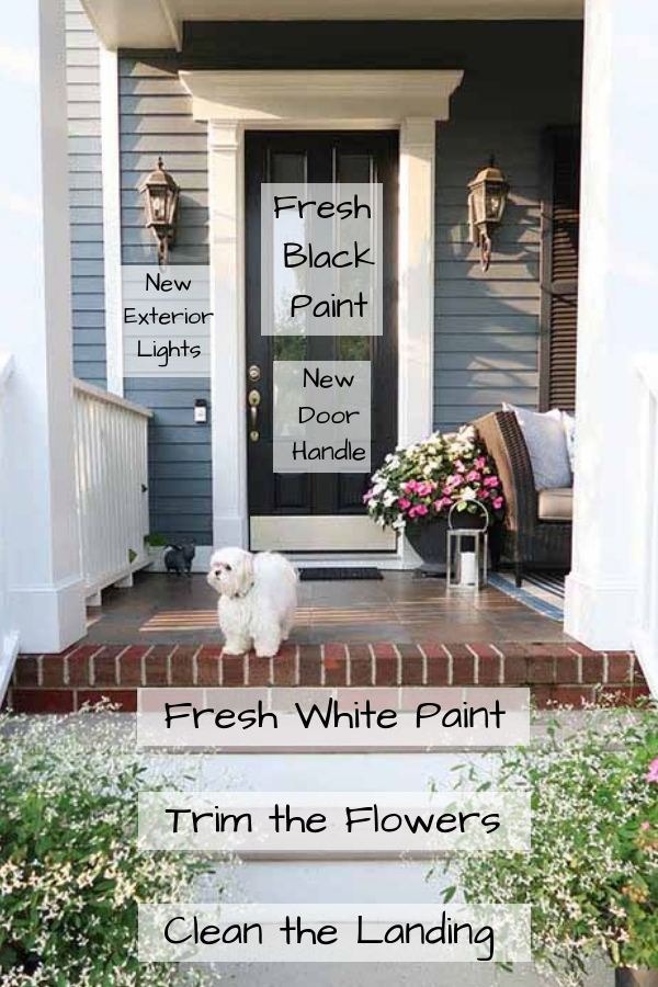Easy ways to update your front entry and create curb appeal
