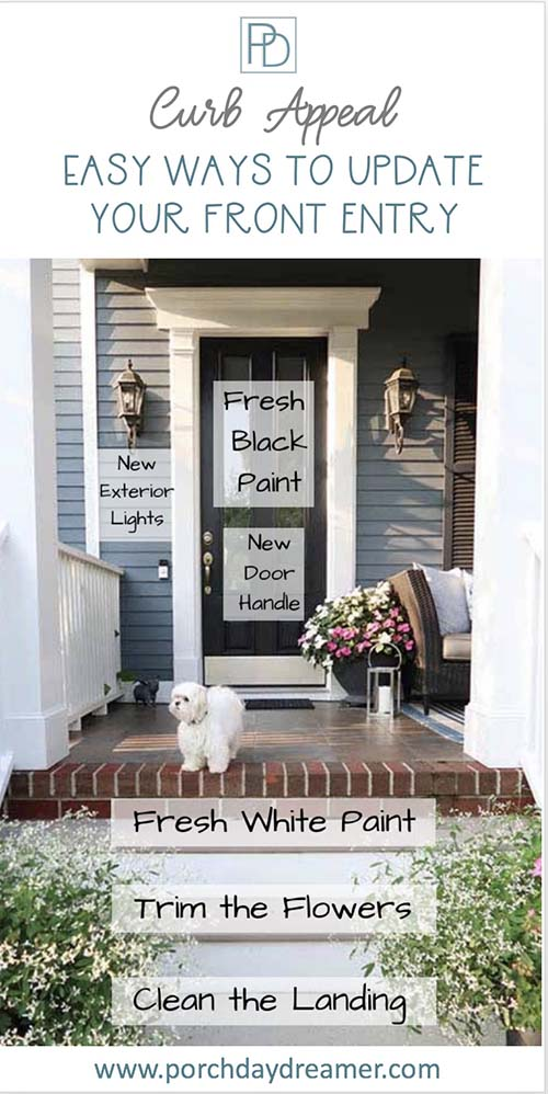Easy ways to update your front entry and increase curb appeal