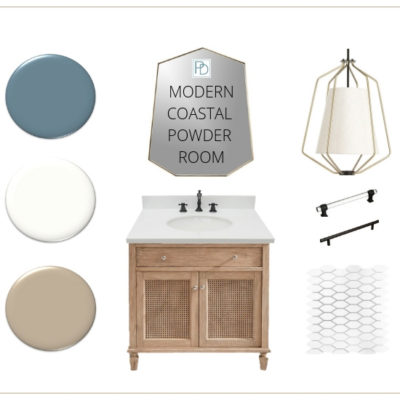 Modern Coastal Powder Room: ORC WK 2