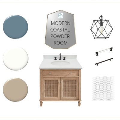 Modern Coastal Powder Room: ORC WK 3