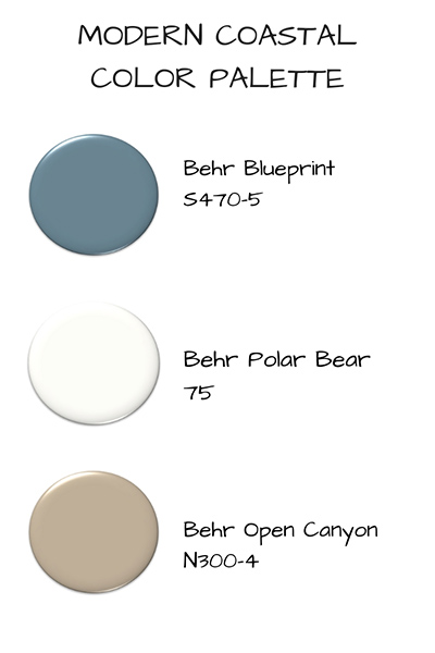 Modern Coastal Color Palette