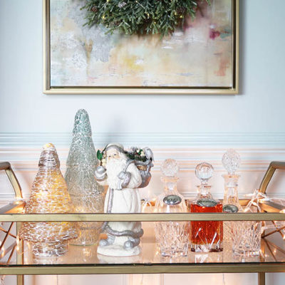 Christmas Bar Cart Tour with 6 Bloggers!