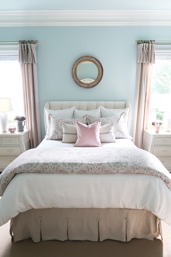 Bedroom-After-blush-gray-neutral-bedding-pale-blue-walls