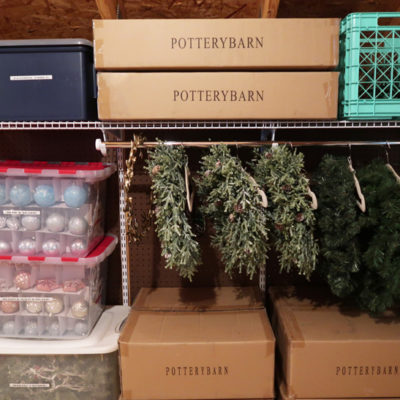 Creative Solution to Store Christmas Wreaths