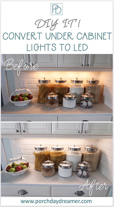 Convert Kitchen Under Cabinet Lights to LED_Easy DIY
