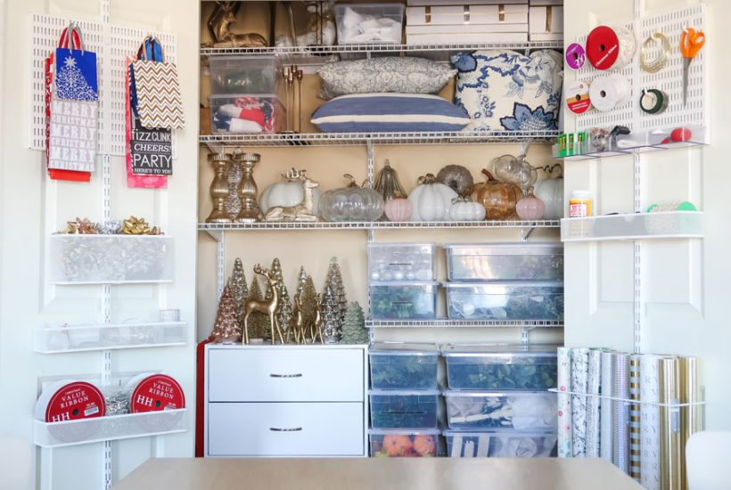 organized-home-decor-and-gift-wrapping-closet