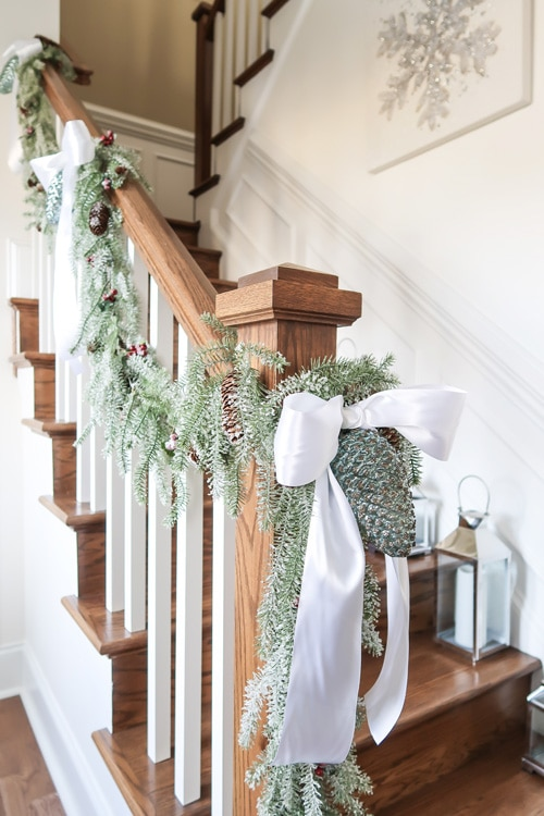 garland-with-pinecones-up-stairway