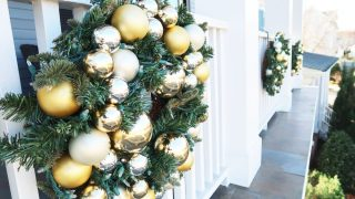How-To Hang Christmas Wreaths and Garland on a Railing