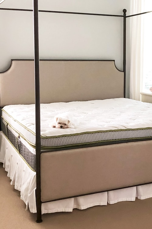 Scandinavian-brand-anniversary-mattress-king-sized-canopy-bed