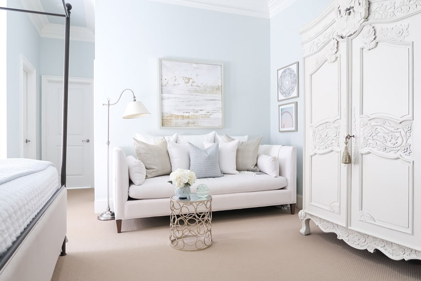 white-daybed-in-corner-of-bedroom-with-quiet-moments-walls-and-white-armoire