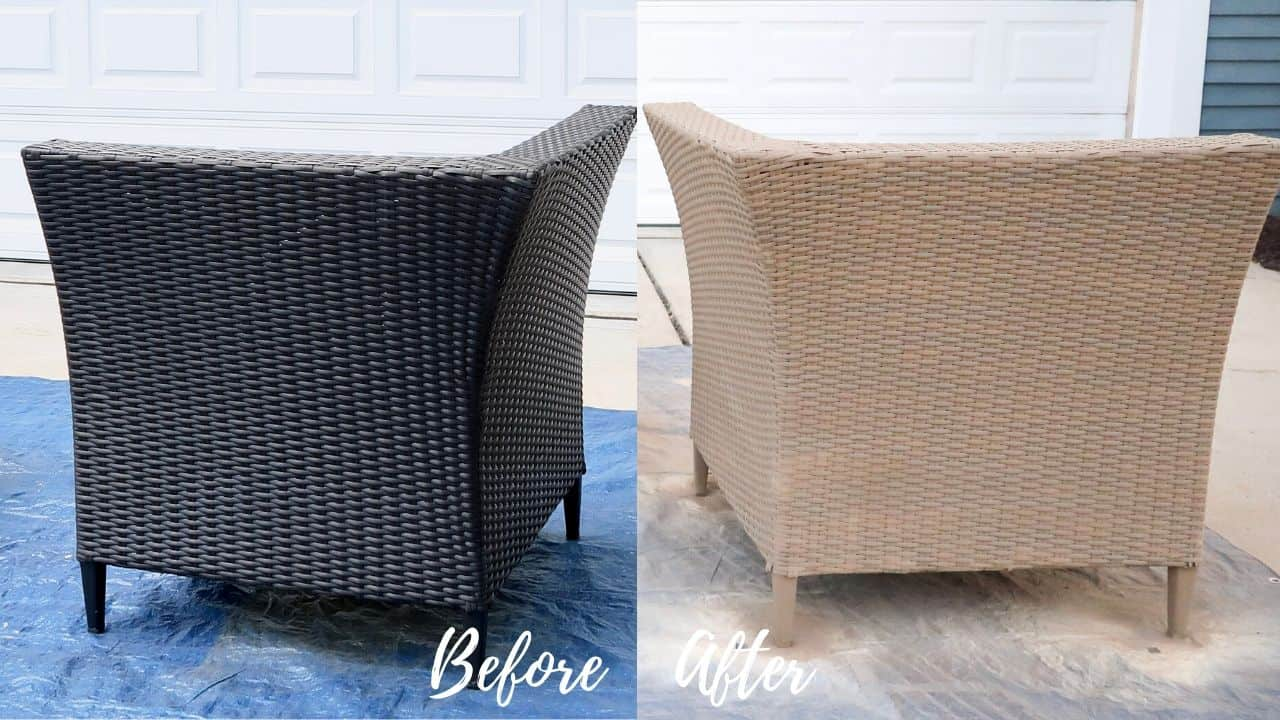 Spray Paint Outdoor Resin Wicker Furniture Porch Daydreamer