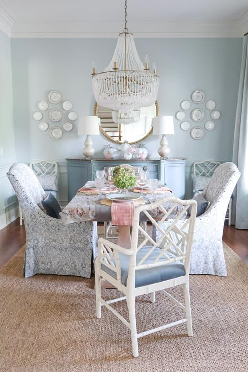 blue-dining-room-fall-table-pink-green