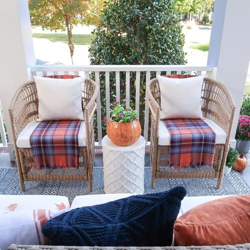 front-porch-chairs-plaid-blankets-navy-orange