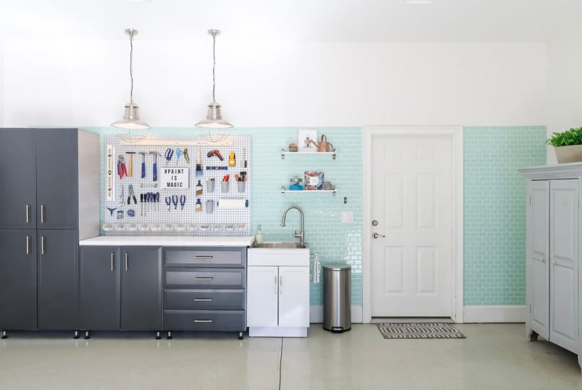 garage-makeover-garage-organization-sink-tools-pegboard-utility-sink